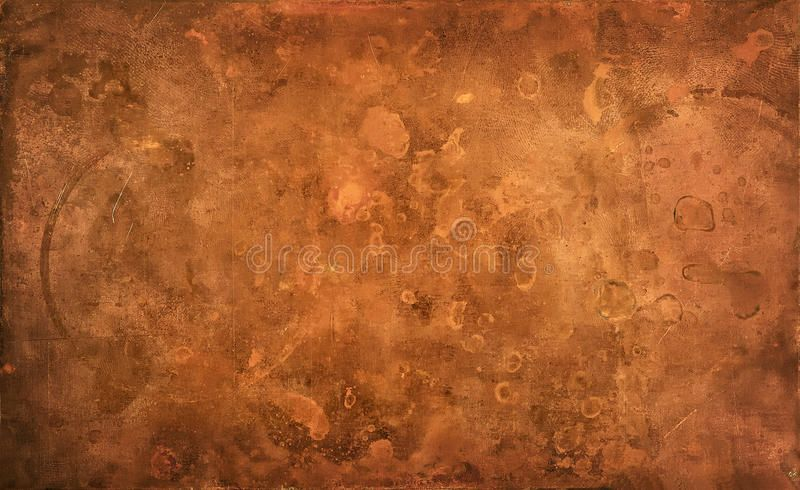 Weathered textured copper background. Close-up of ...