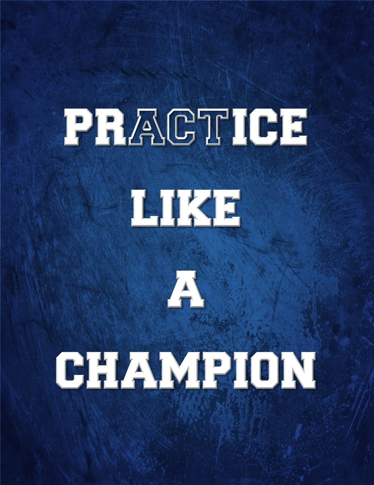 """Lacrosse Quotes Champion Quotes  Practice Like A Champion"""" Act Like A Champion"""
