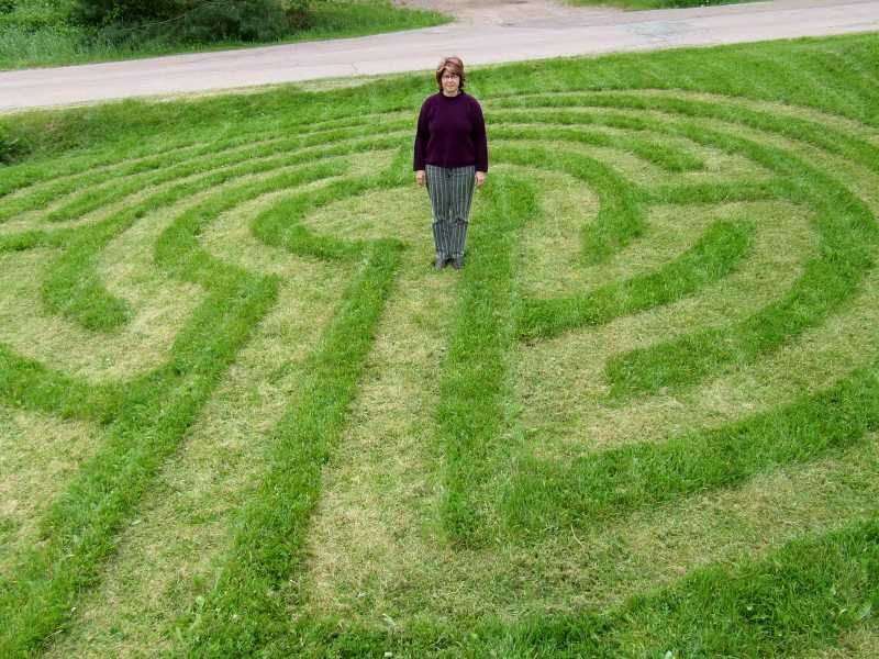 Lawnmower maze for the kids? He probably wouldnt do it but fun idea