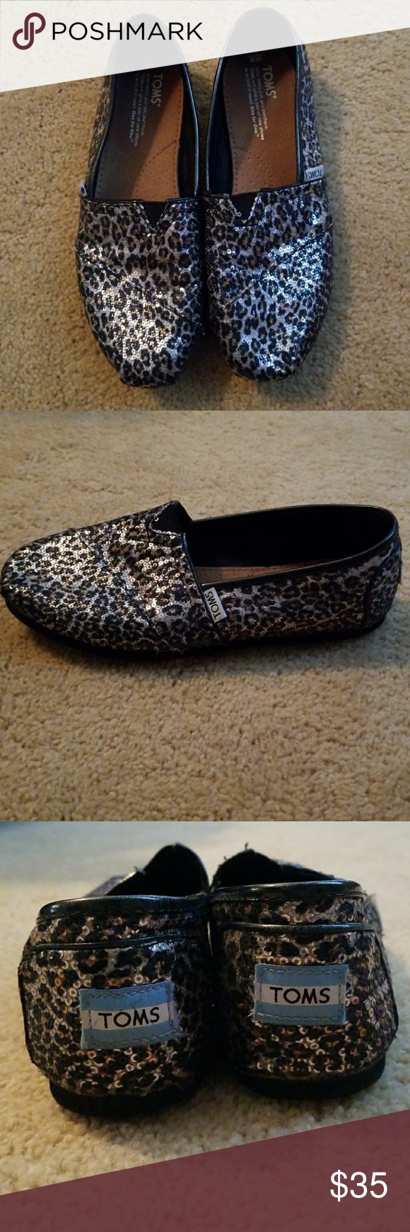 9025be951306 Toms (Nordstrom exclusive) Sequin leopard print Toms exclusively sold at  Nordstrom. Comfortable and only worn a few times. Toms Shoes Flats & Loafers