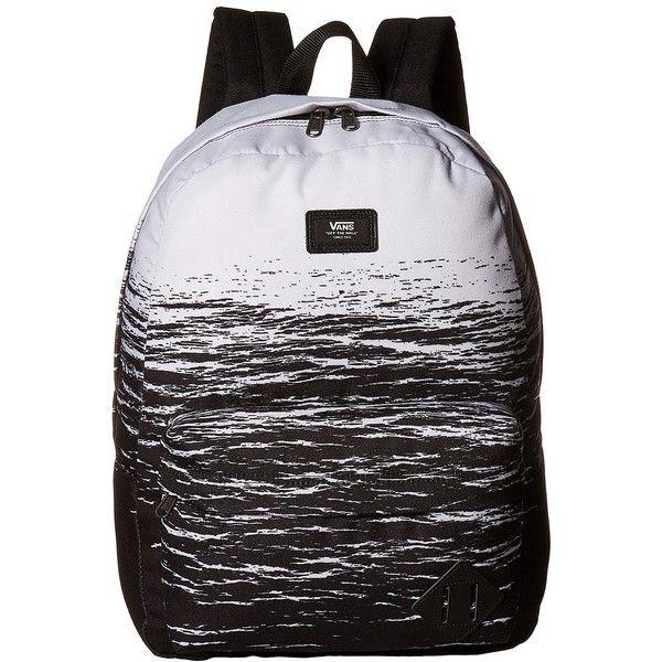 897087ecc172ba Vans Old Skool II Backpack (White Dark Water) Backpack Bags ( 35) ❤ liked  on Polyvore featuring men s fashion