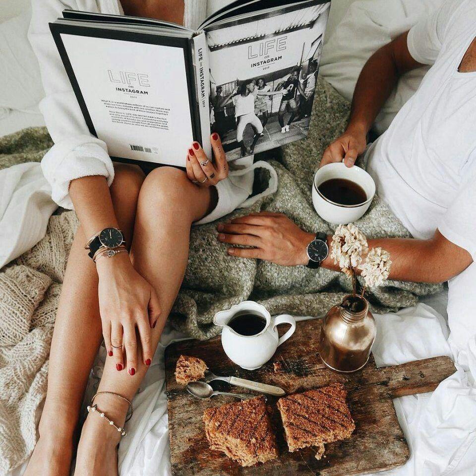 Для открыток, картинки на тему кофе в постель