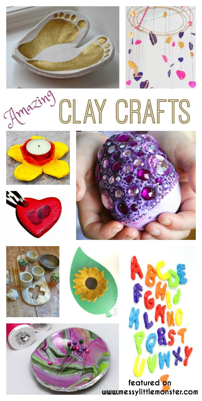 Clay Craft Ideas Www Messylittlemonster Com Clay Crafts Crafts