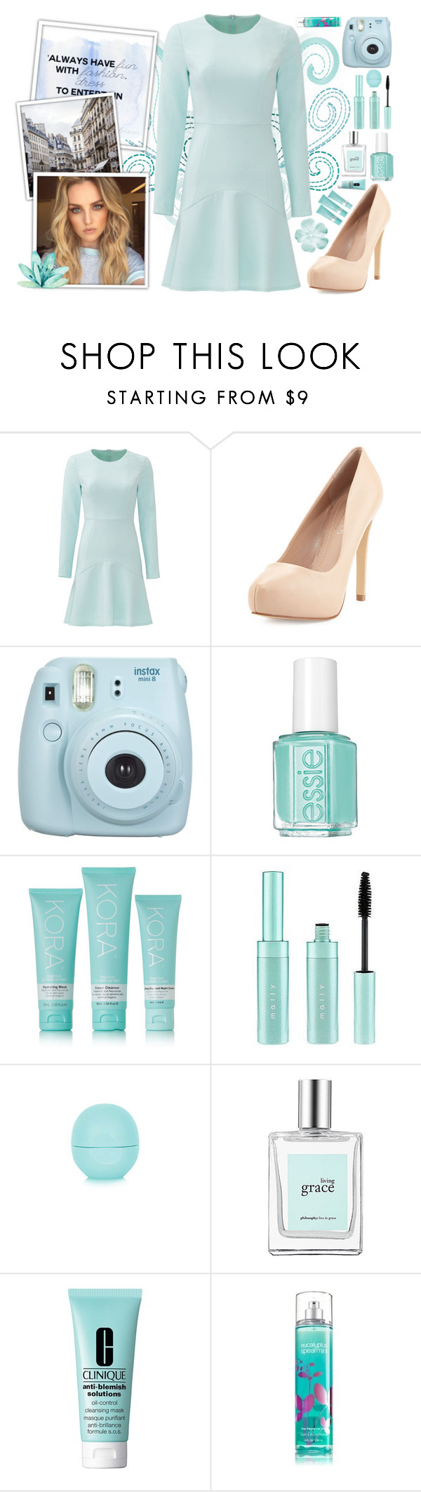 """Always Have Fun With Fashion"" by angelstylee ❤ liked on Polyvore featuring Shoshanna, Charles by Charles David, Fujifilm, Essie, Mally, Topshop, philosophy and Clinique"