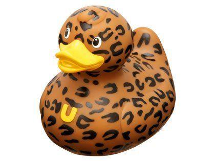 Lush Duck - \'Bathing Lush\' Leopard Print Rubber Duck | I Love Ducks ...