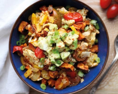 Upgrade your go-to breakfast scramble with this sweet potato and avocado recipe