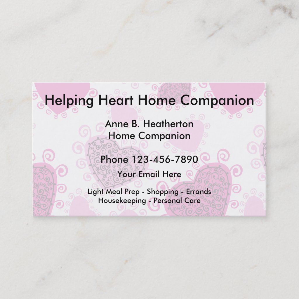 Home Care Companion Business Card Zazzle Com Home Care Home Health Aide Free Business Card Templates