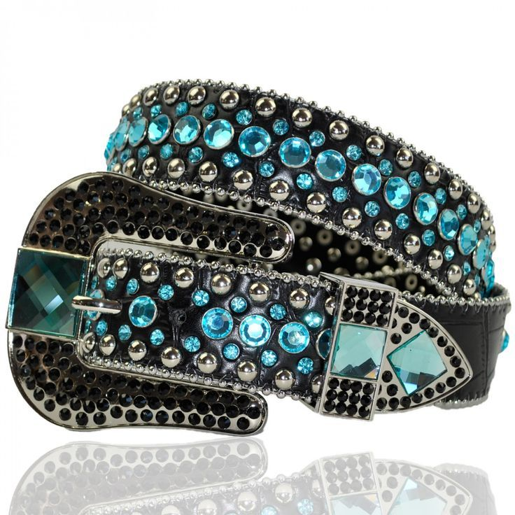 www.thewesternbou... Black and Turquoise Women's Belt The Western Boutique offers a wide selection of beautiful Texas and Rodeo style Cowgirl Bling Belts. Made of genuine leather and cowhide. These western belts feature Rhinestones, Crystals, Crosses, Conchos, and Pistols. Clothing, Shoes & Jewelry - Women - women's belts - http://amzn.to/2kwF6LI