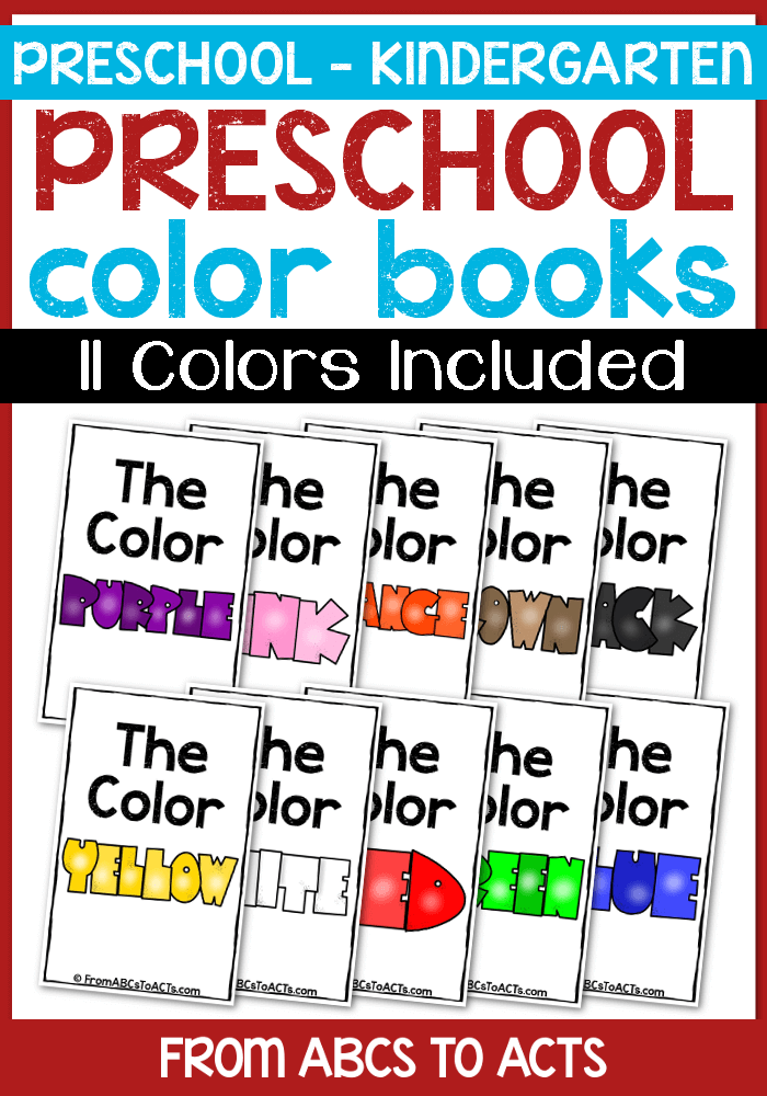 Preschool Color Books | Colour book, Preschool colors and Daycare ideas