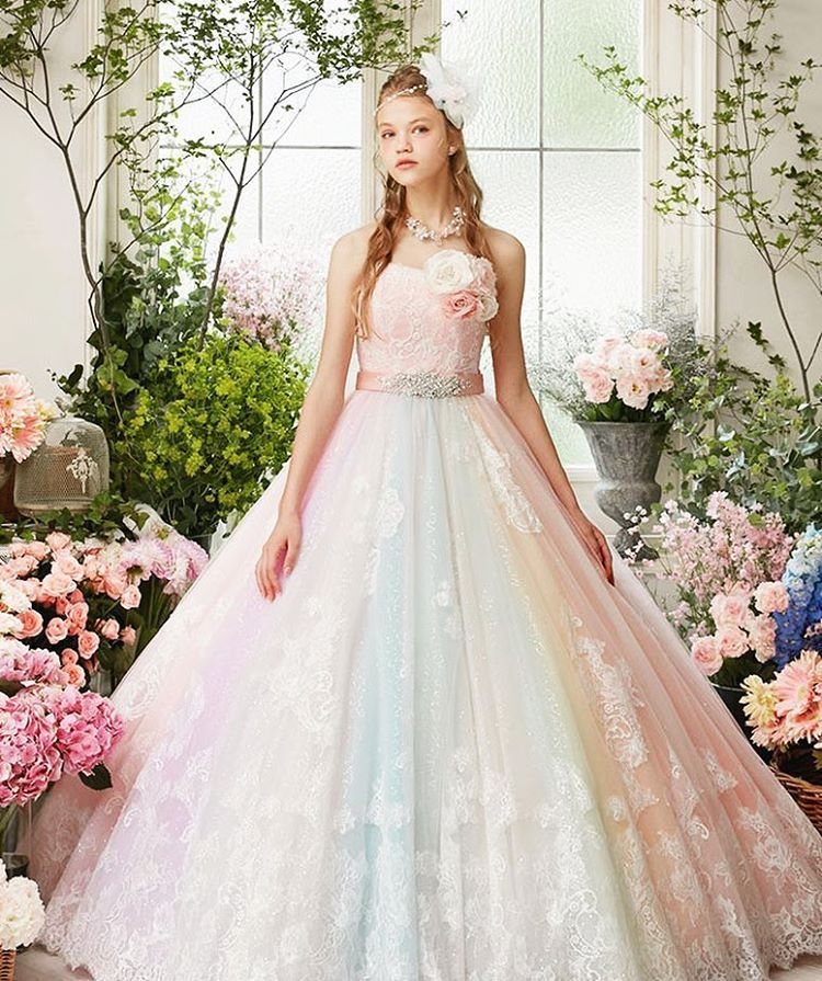 Pastel Colored Wedding Gowns: A Magical Sweet Gown From Nicole Collection Featuring