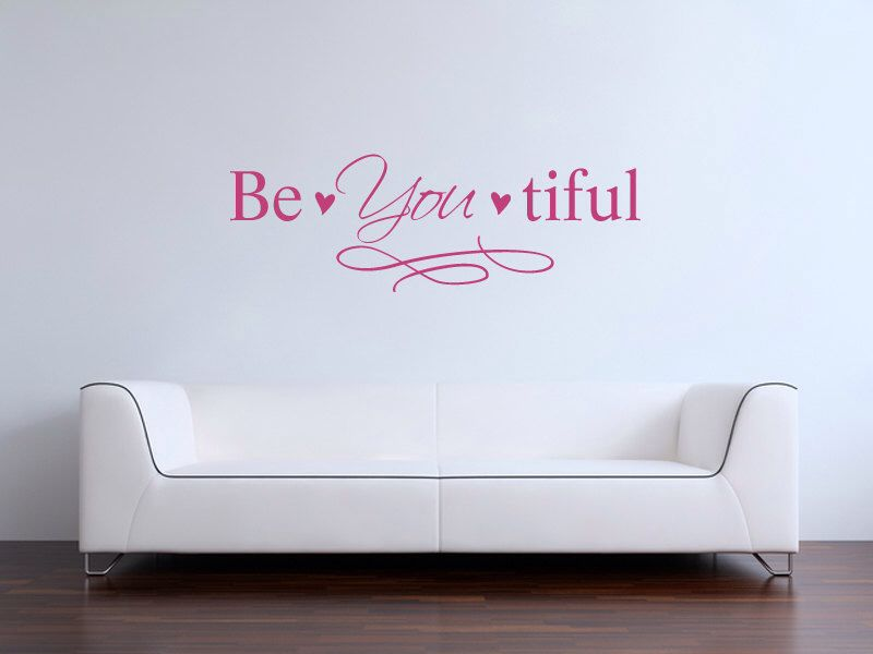 Be You Tiful Vinyl Wall Decal By BearHouseVinyl On Etsy Https - Custom vinyl wall decals how to remove