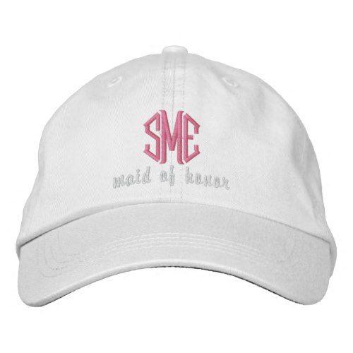 2e402ebea Maid of Honor Custom Wedding Monogram Baseball Cap | Zazzle.com ...