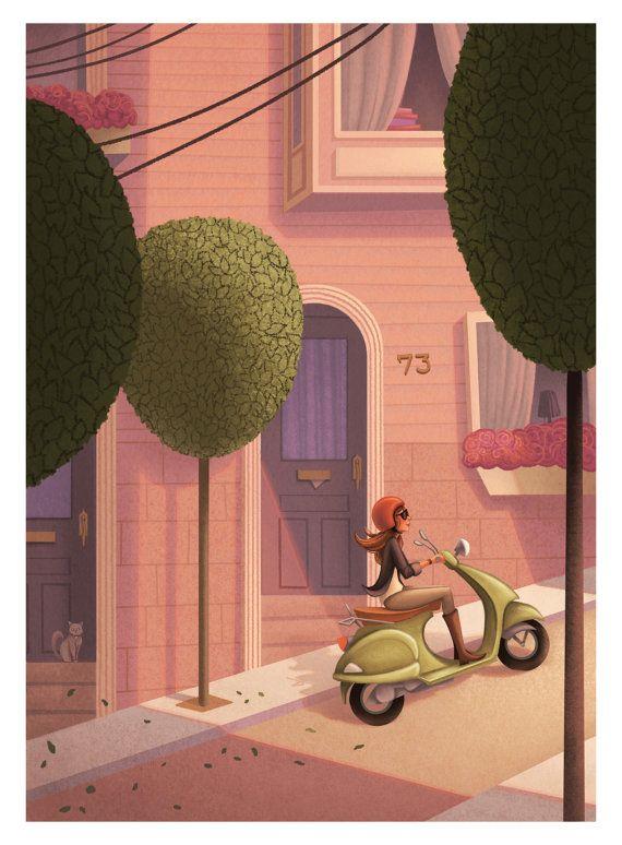 San Francisco Dreaming Illustration