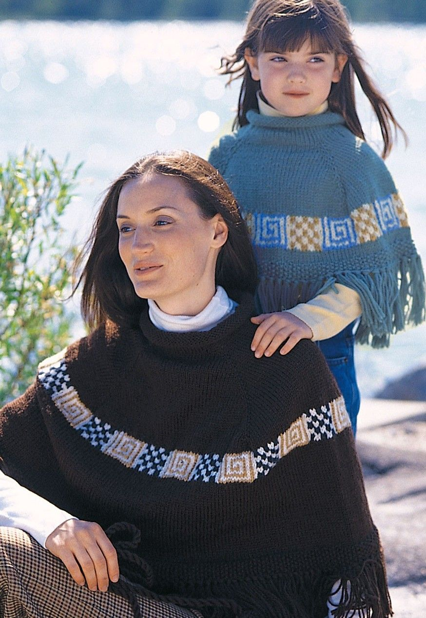 Free knitting pattern for mother and daughter peruvian spirit free knitting pattern for mother and daughter peruvian spirit ponchos bankloansurffo Gallery