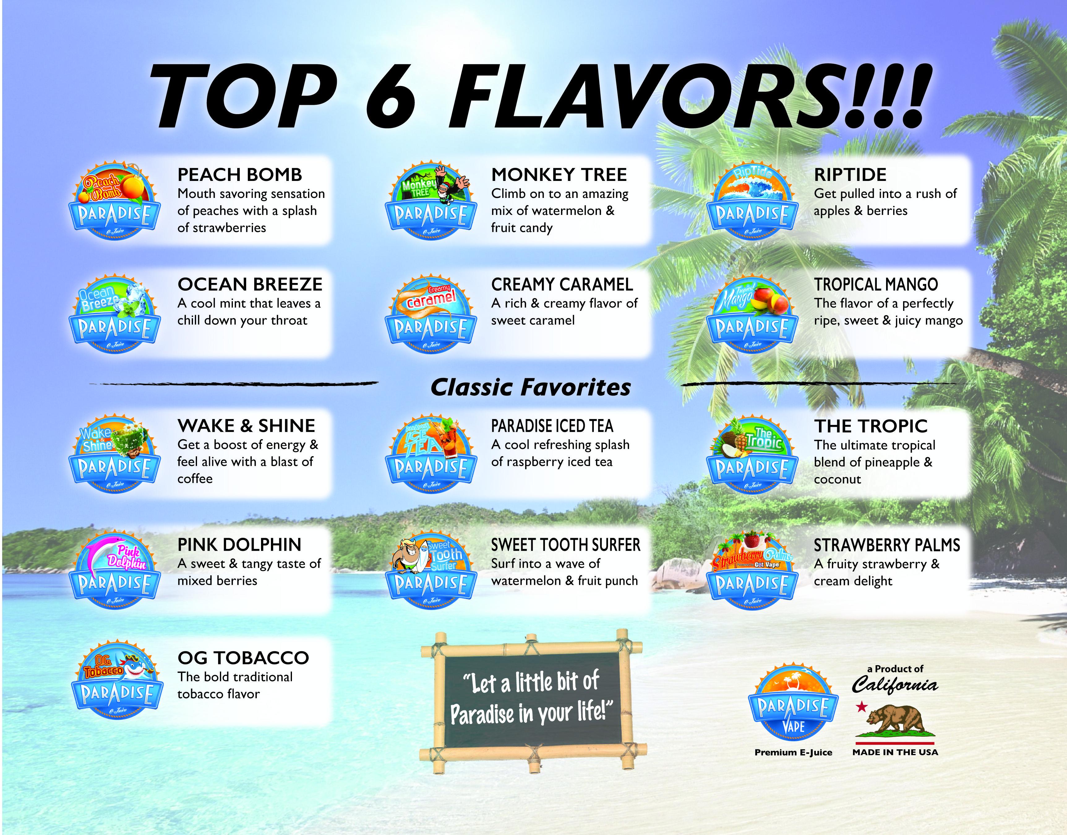Our New <b>Flavor List</b> 2... 6 Top <b>Flavors</b>! #ParadiseVape #Ejuice ...