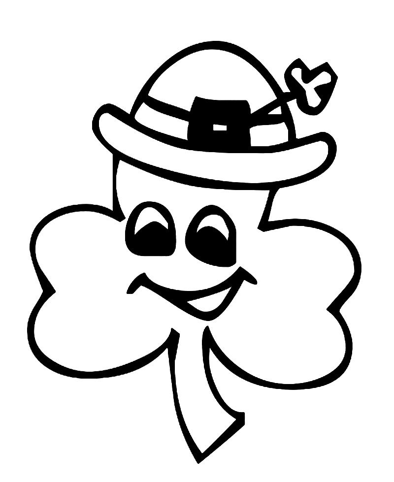 Free Printable Shamrock Coloring Pages For Kids | St ...
