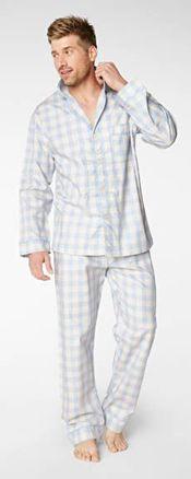 5458abf82f Bedhead Men s Denim Gingham Classic Cotton Pajama Set