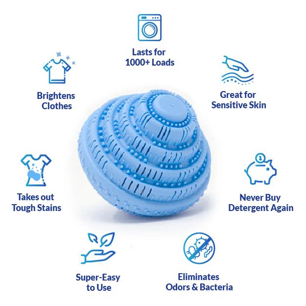 Laundry Wunderwasher Natural Ceramic Balls Cleans Laundry