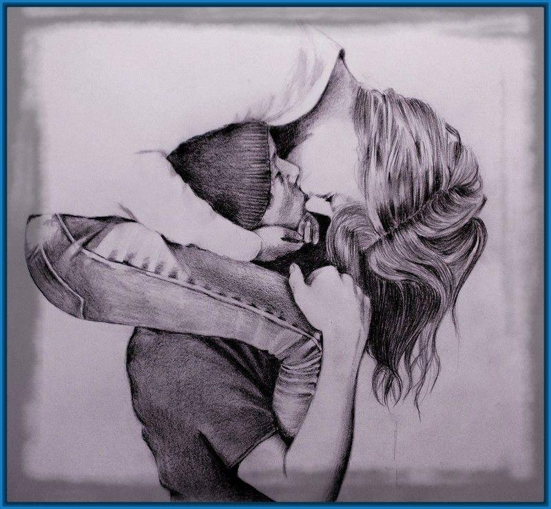 Imagenes Para Dibujar Con Lapiz De Amor | Dibujos de Amor a Lapiz