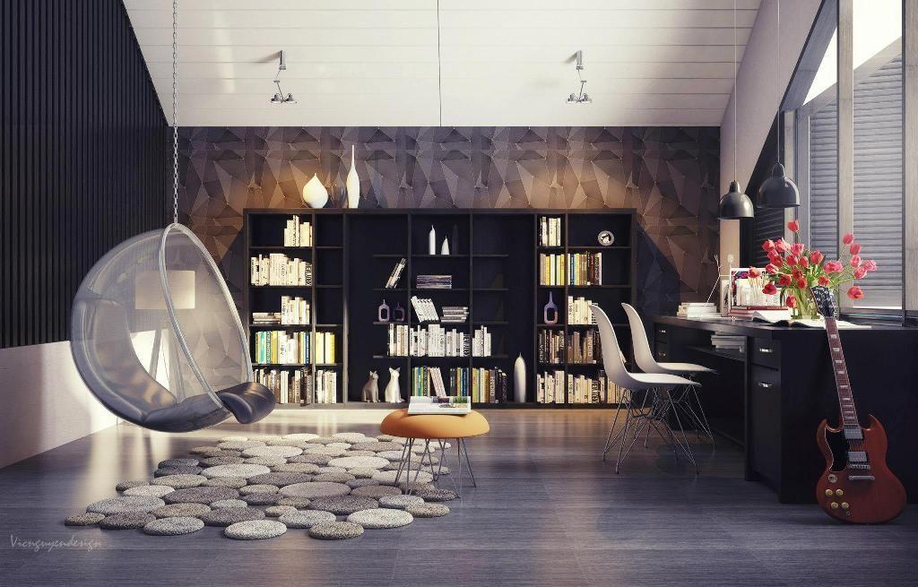 Pin de Tilina Diyagama en Creative Designing Pinterest House - bibliotecas modernas en casa