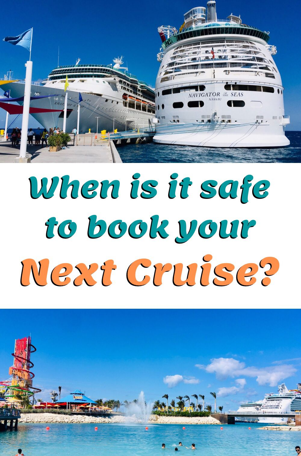 Ready to get back to cruising? When is it safe to book? Check out our blog. #thriftydrifting #royalcaribbeancruise #royalcaribbean #cruise #cruisetips #cruisevacation #cruising