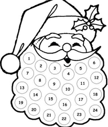 Free Printable Santa Countdown christmas countdown activities