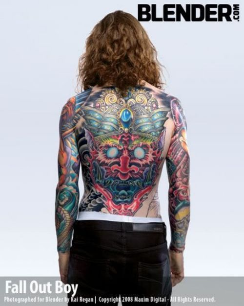 Andy Hurley Has Some Rockin Tattoos Guys That I Think Are