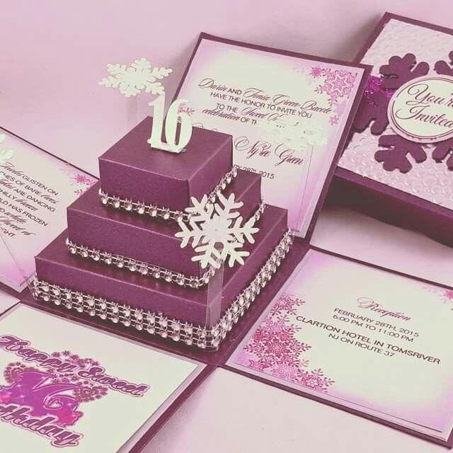 invitation not my own photo debut purple winter wonderland
