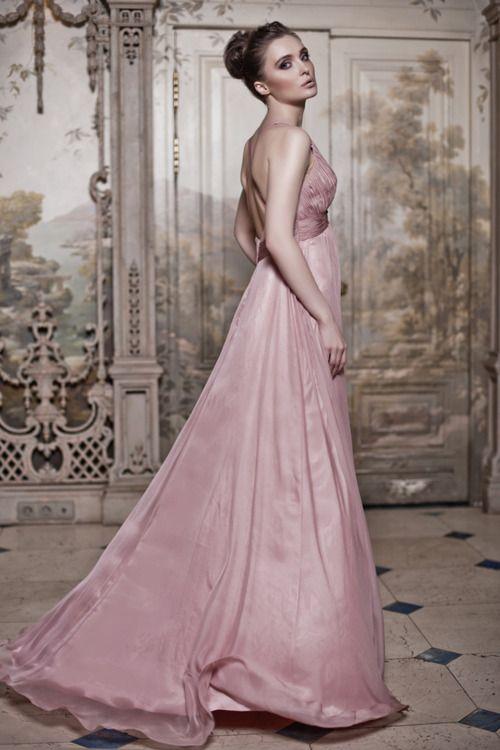 powder pink gown