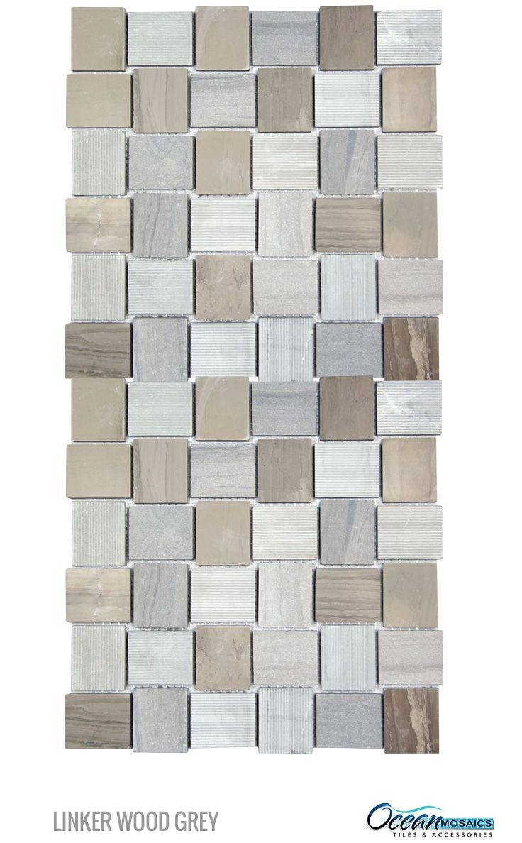 GroBartig Buy Linker Wood Grey Mosaic Stone Tile | Stone Backsplash Kitchen .
