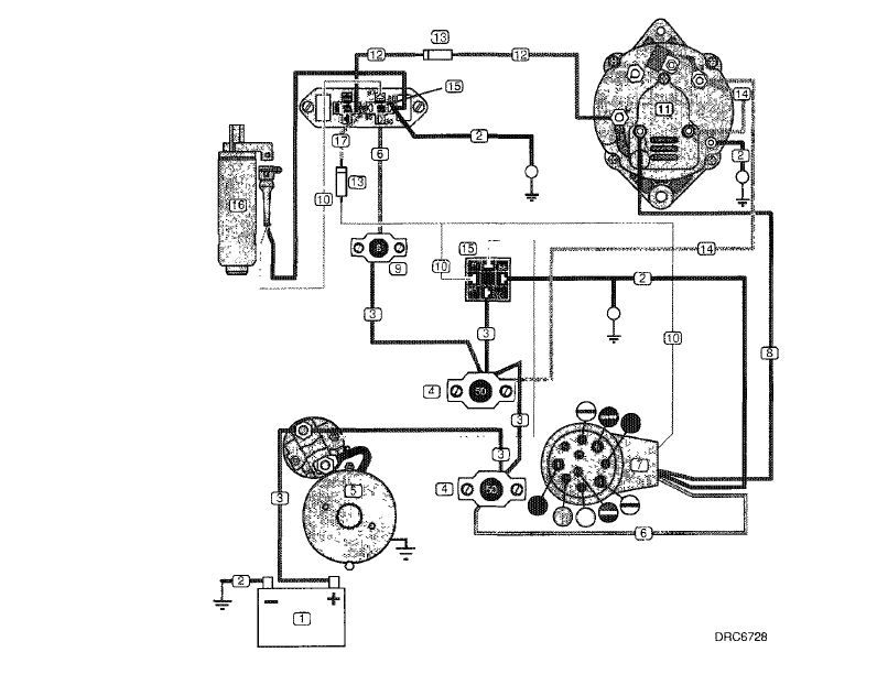 volvo penta alternator wiring diagram yate pinterest volvo and rh pinterest com Car Alternator Diagram 4 Wire Alternator Diagram
