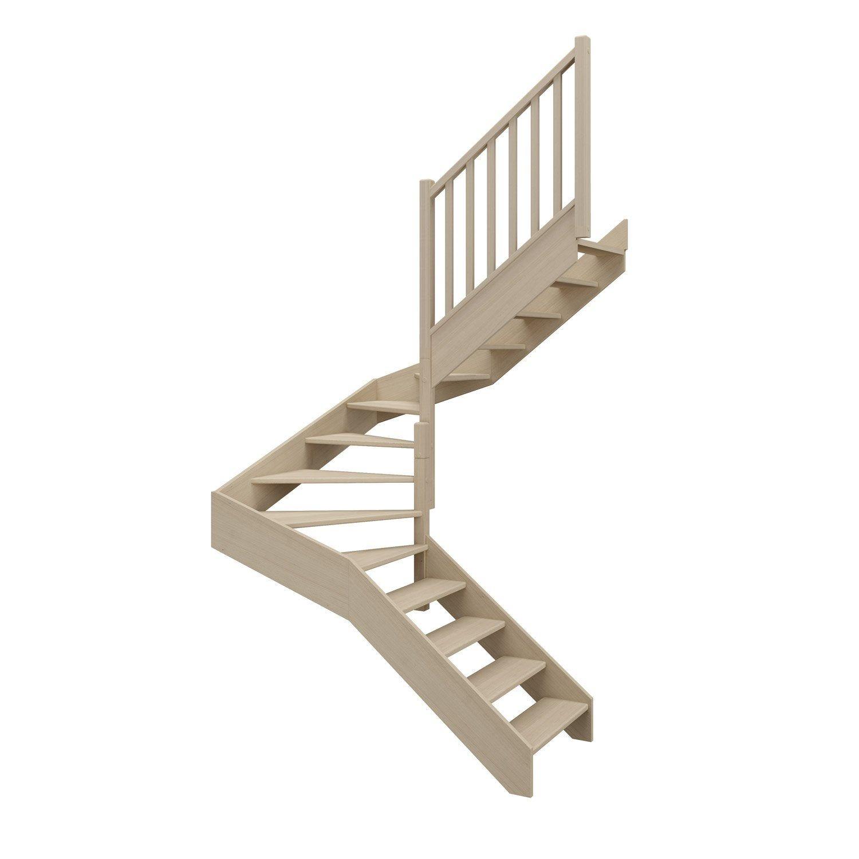 Escalier 2 4 Tournant Droit Bois Hetre Soft Classic Scm 14 Mar