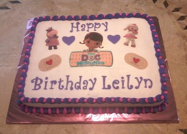 Doc Mcstuffins Birthday Cake With Images Doc Mcstuffins