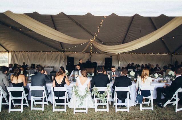 Outdoor White Tent Wedding Reception Windermere Farm Wichita Ks Waldron Photography