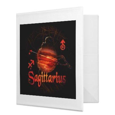 Valxart creepy zodiac born Sagittarius 3 Ring Binders by ValxArt