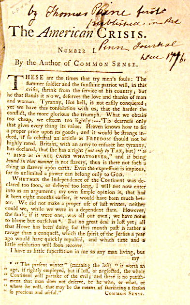 The Courage Of Your Conviction A Fourth July Story Thoma Paine American Military History Crisis Essay Common Sense Analysi Why Wa Paine' Significant To Independence Quizlet