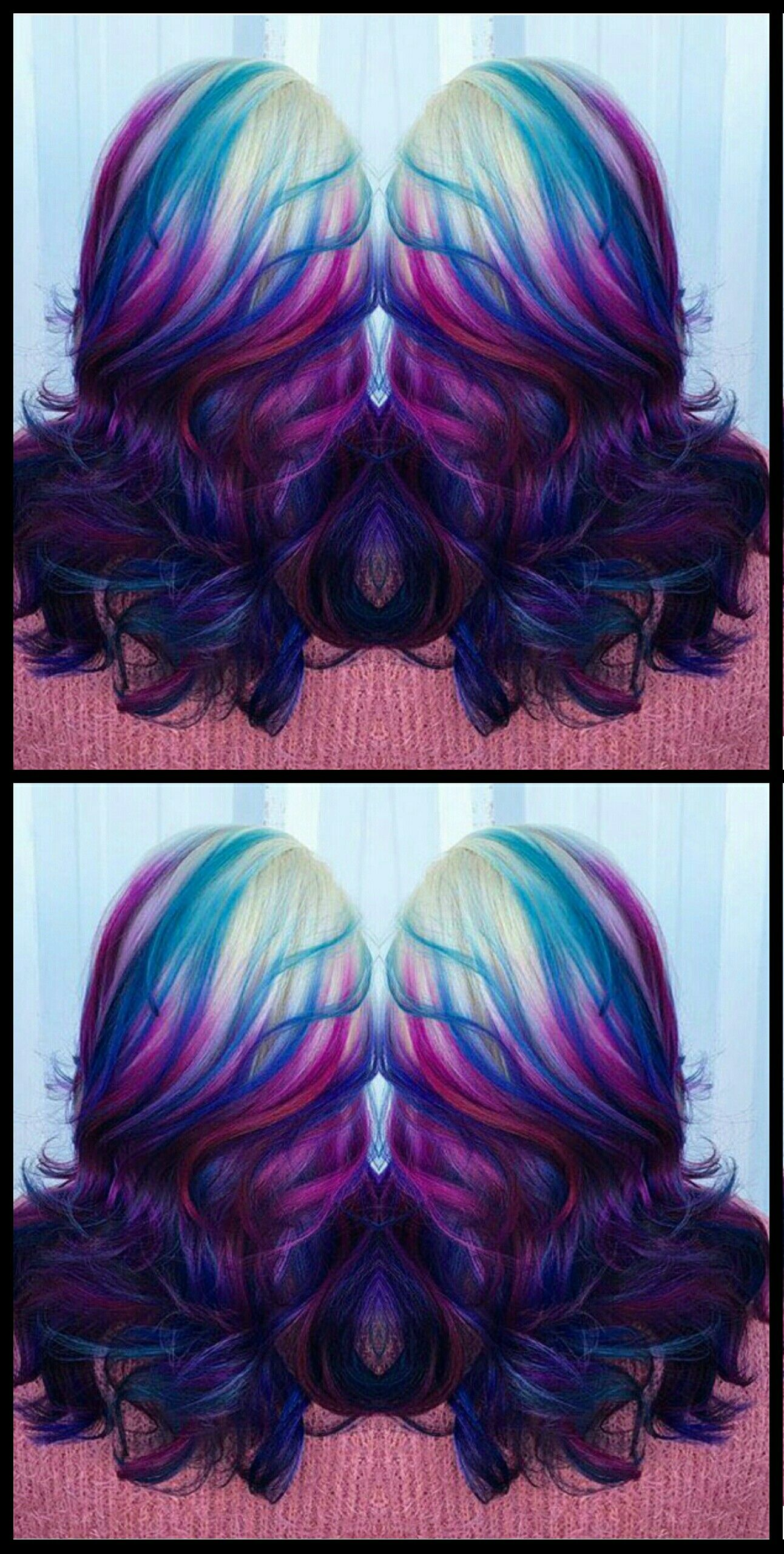 Blue purple dyed hair color esteticausa peinados pinterest