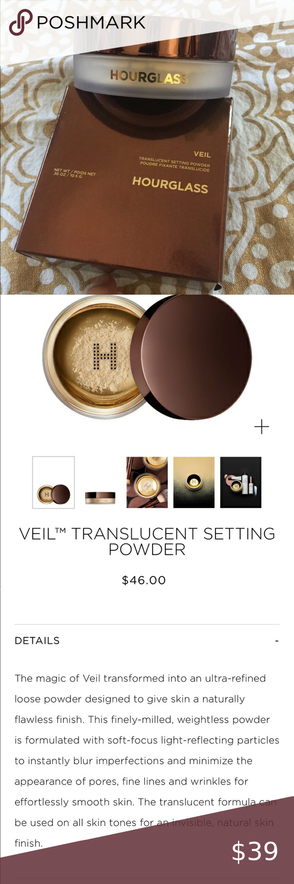 Hourglass veil translucent setting powder in 2020