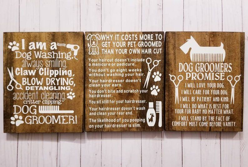 Pet Salon Dog Groomer Gift Business Signs Dog Grooming Etsy