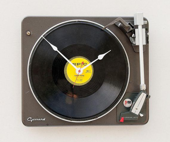 Clock Created From A Recycled Garrard Record Player Etsy Clock Record Player Recycling