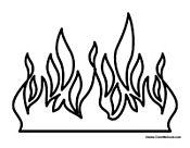 flamescoloringpage fire flames