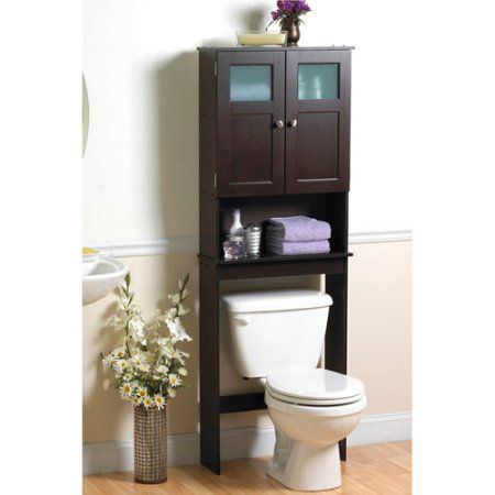 18+ Bathroom over the toilet space saver storage cabinet shelf organizer espresso best