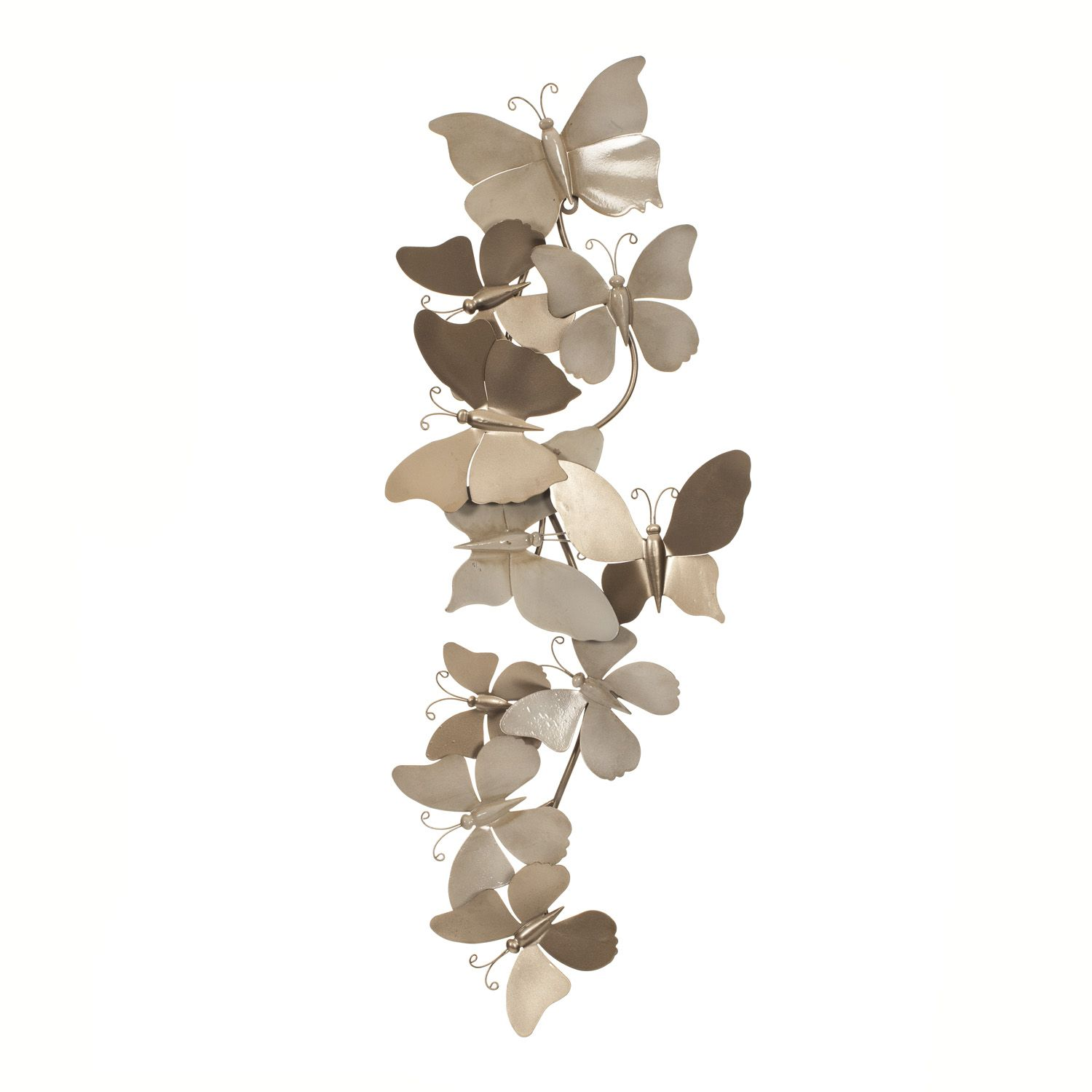 Collection of butterflies metal wall art the range living room
