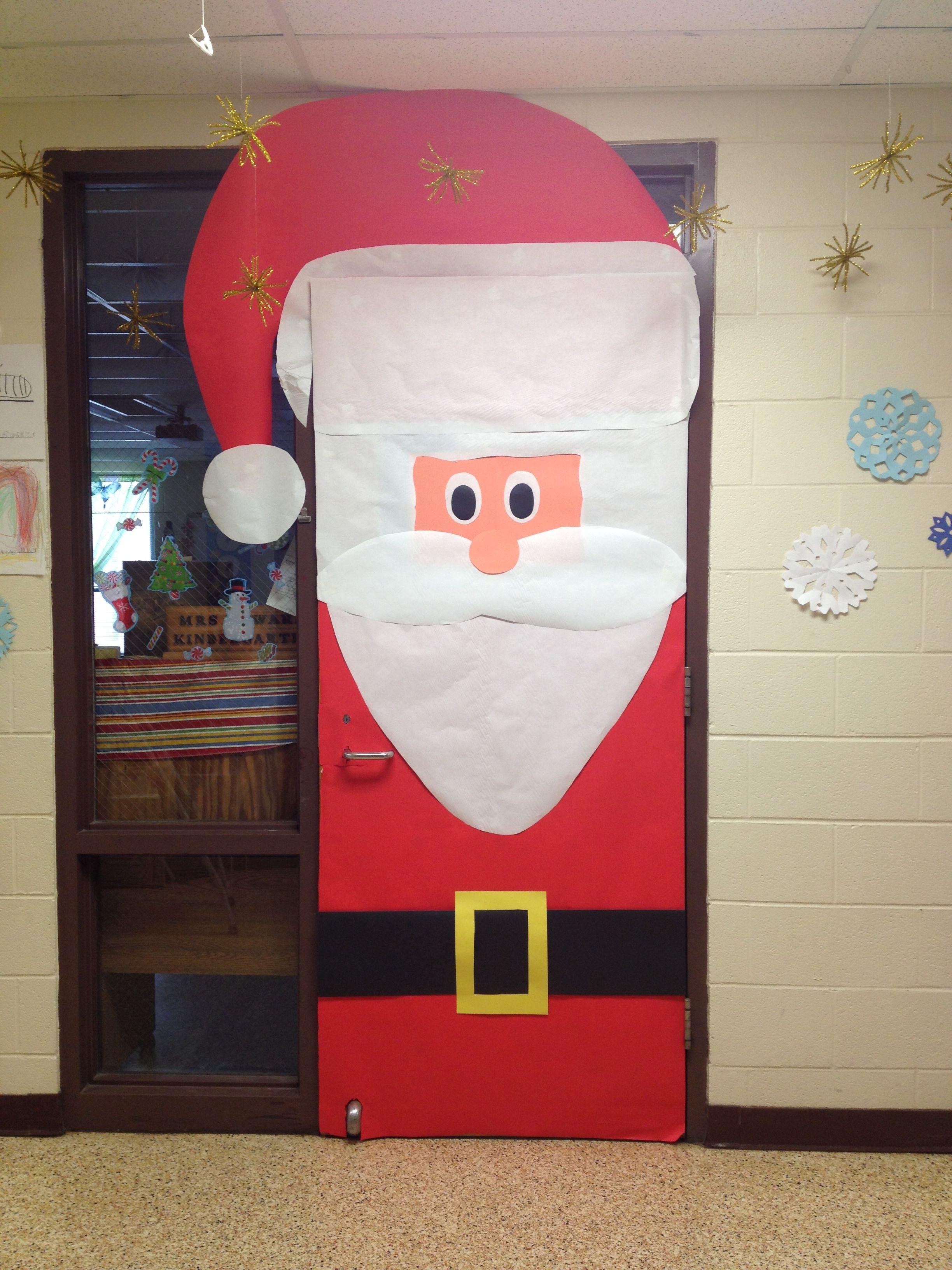 Christmas Classroom Door Decoration Santa Christmas Classroom Door Door Decorations Classroom Christmas Door Decorations