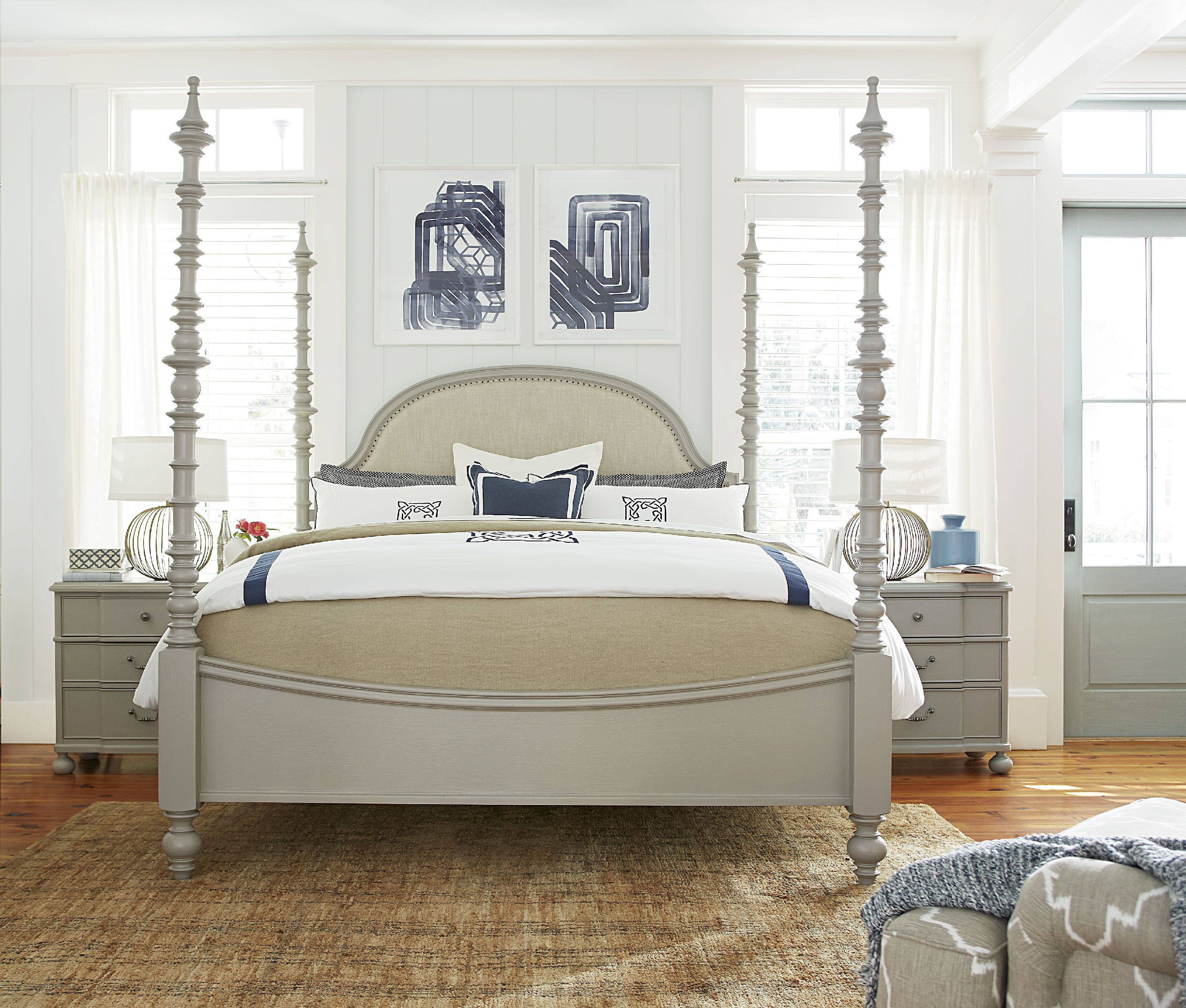 Ashley Furniture Beaumont Texas: Paula Deen By Universal Bedroom Dogwood Bed Queen 599280B