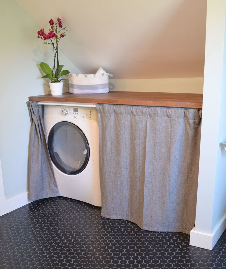 Hidden Laundry In Bathroom Washer And Dryer Under Counter With