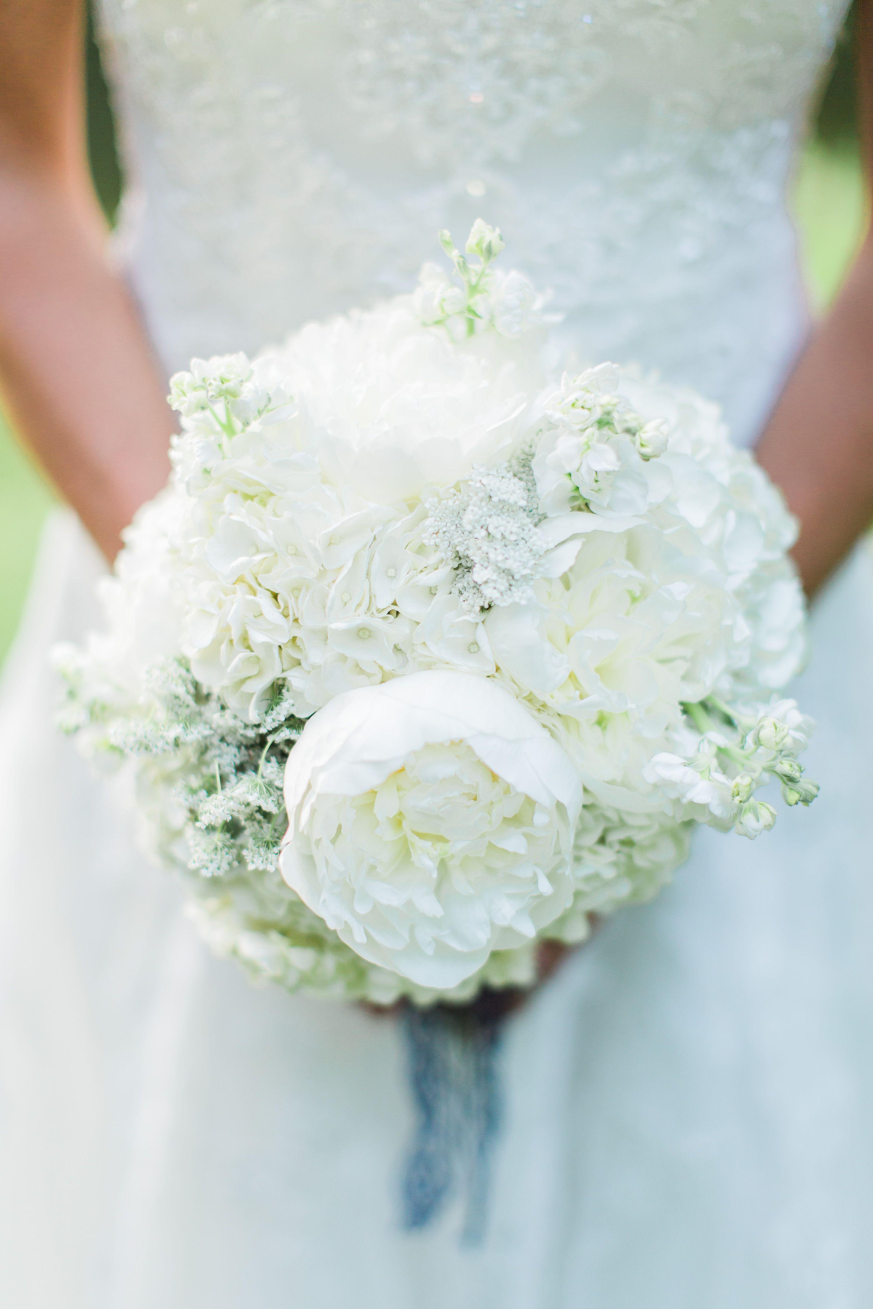 Romantic White Peony and Hydrangea Bouquet | Megan\'s wonderful ...