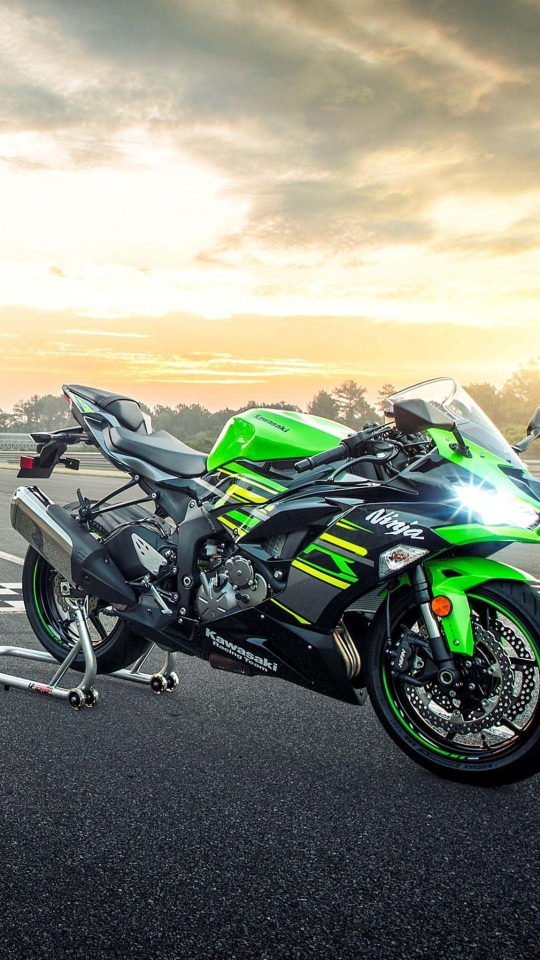 Kawasaki Ninja Zx 6r Sport Bike 1080x1920 Wallpaper Sport