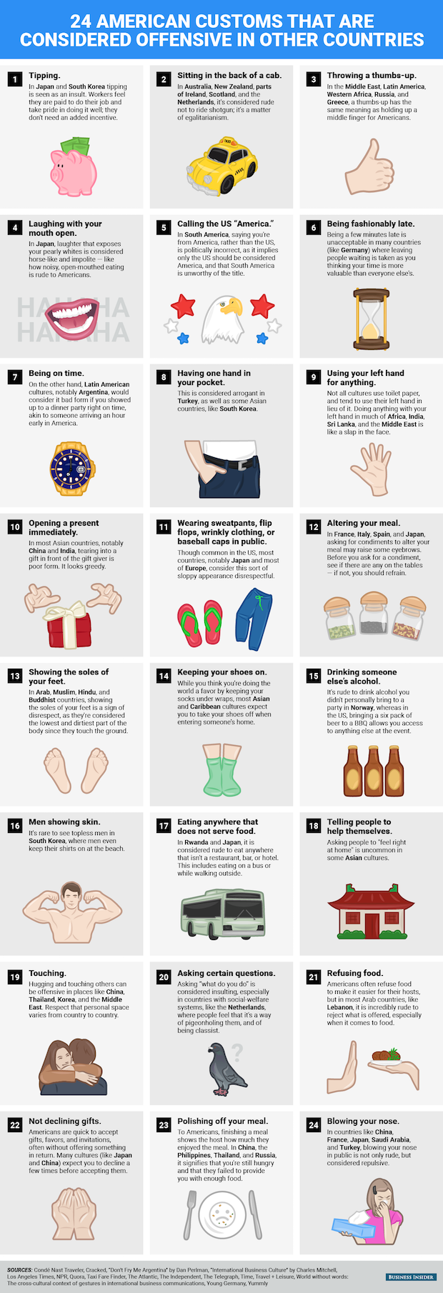 24 American Behaviors Considered Rude in Other Countries | Nerds
