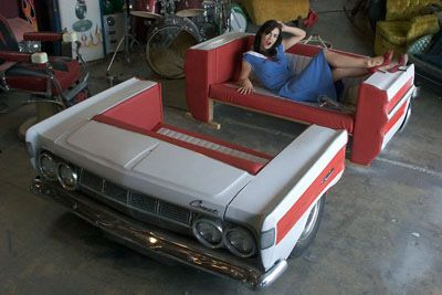 Indoor Furniture Made From Vintage Car Parts